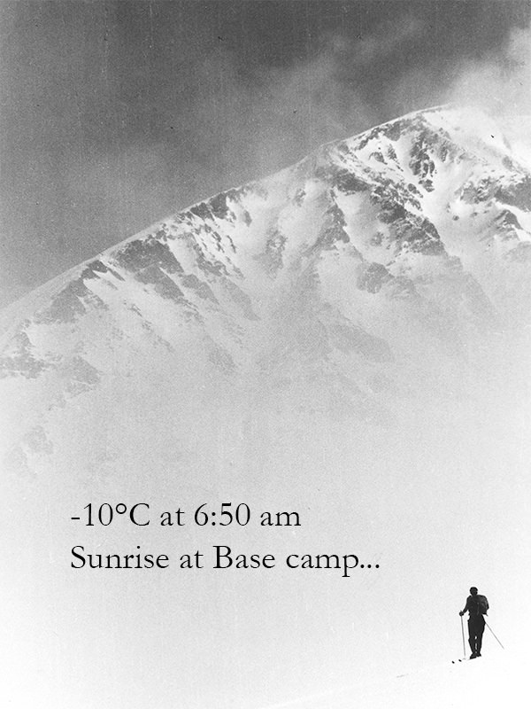Sunrise at Base camp...