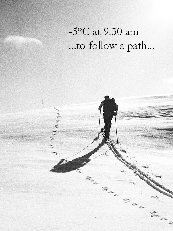 ...to follow a path...