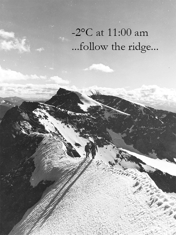 ...follow the ridge...